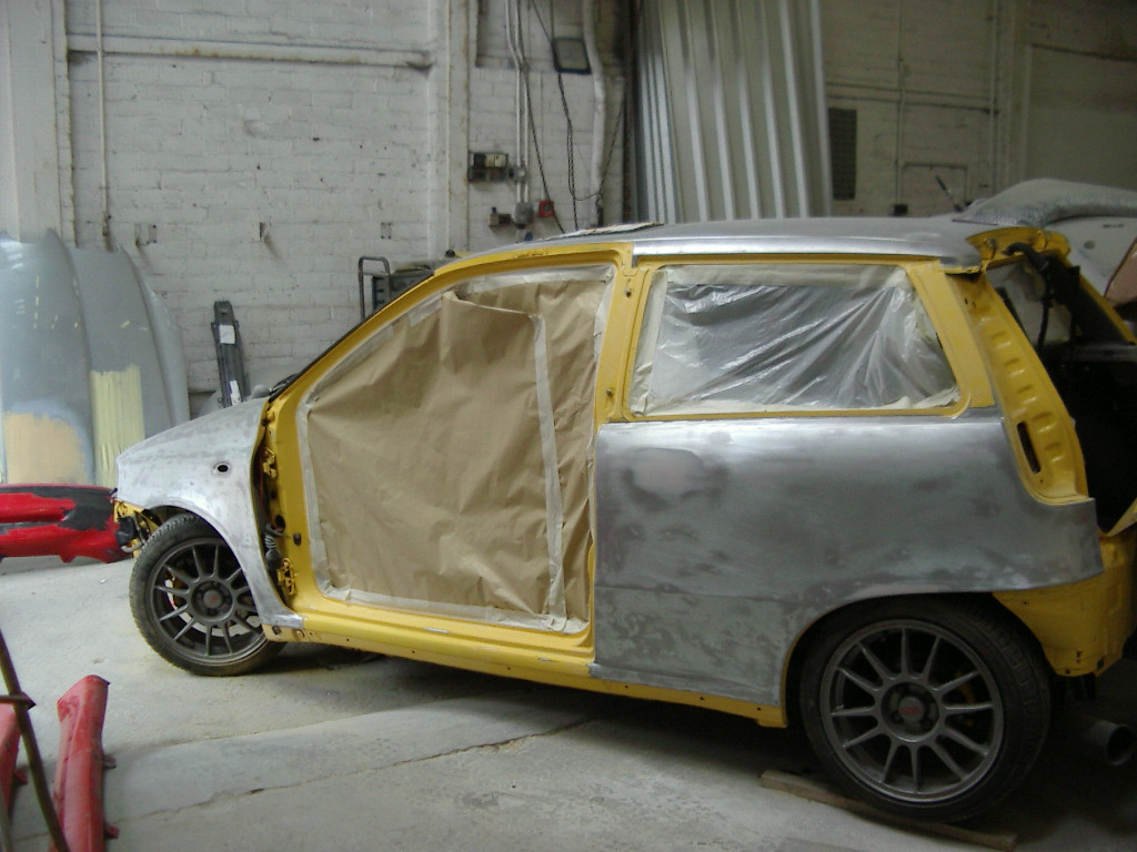 bare metal respray fiat punto abarth bodywork plus. Black Bedroom Furniture Sets. Home Design Ideas